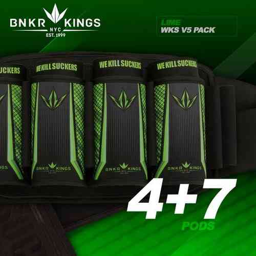 BunkerKings V5 supreme harness 4 + 7 lime